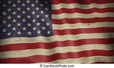 Burlap Flag of United States.