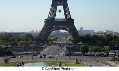 FRANCE, PARIS: Eiffel Tower in the sunshine day, vertical -...