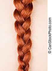 Redhead Braid - Detail of a Redhead Woman's Braid