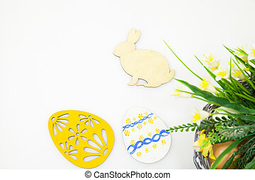 Easter holiday background - Easter background with painted...