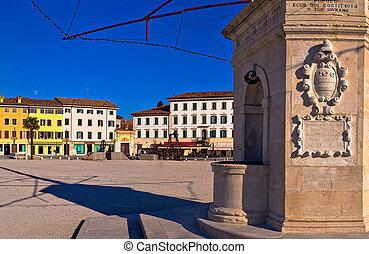 Central square in Palmanova landmarks view, Friuli-Venezia...
