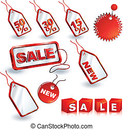 shopping sale tags design set