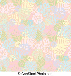 Summer exotic floral tropical palm, banana leaves in blue...