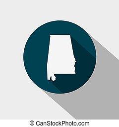 map of the U.S. state Alabama