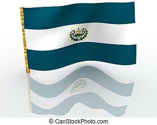 Salvador. National Flag