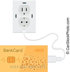 Bank card charge - Bank golden card cash charging from usb...