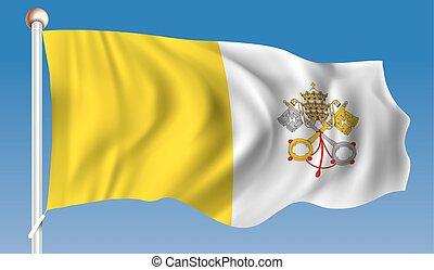 Flag of Vatican - vector illustration