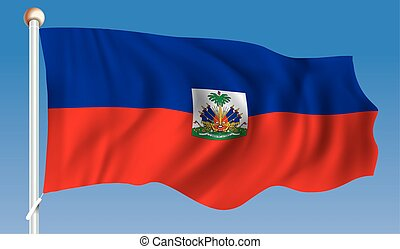 Flag of Haiti - vector illustration