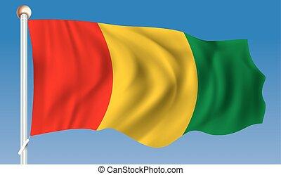 Flag of Guinea - vector illustration
