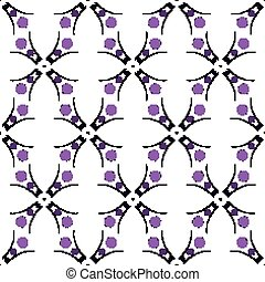 EPS10 file. Seamless vector floral geometric pattern. Vintage background.