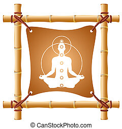 bamboo frame - vector image of a bamboo frame with a taut...
