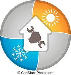 Air conditioning for home service