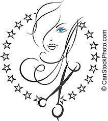 Symbol of Beauty and hair salon - Beauty salon and barber...