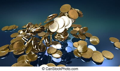 Coins Fountain - Two high quality animations of dollars...