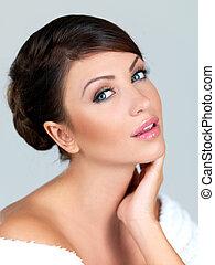 Portrait of beauty - Portrait of beautiful woman, she is...