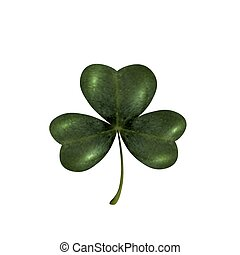 Trifoliate clover. The symbol of St. Patrick s Day. Isolated on white background. illustration