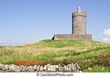 irish castle from the west of ireland