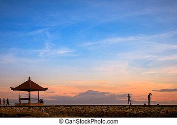 Sanur beach at Bali, Indonesia