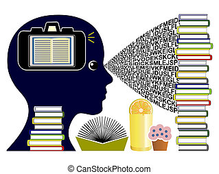 Eidetic Memory Concept - Student with the ability to make...