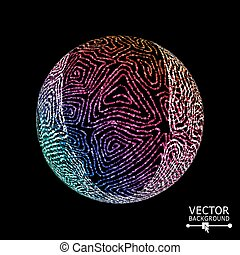 Luxury Sphere With Swirled Stripes. Vector Glowing Composition
