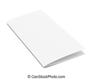 Stationary positioned two fold paper brochure. - Stationary...