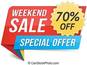 Weekend Sale - Weekend sale banner, special offer, 70...