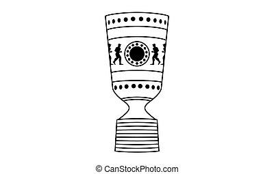 Pictogram - German Cup Trophy - Vektor - Deutscher Fussball...