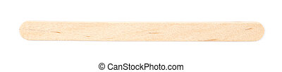 Medical test wooden stick isolated over the white background