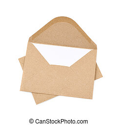 Envelope made of recycled paper - Envelope made of brown...