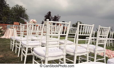Wedding Ceremony Location - Wedding ceremony green grass...