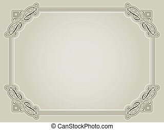 Decorative certificate background in sepia tones