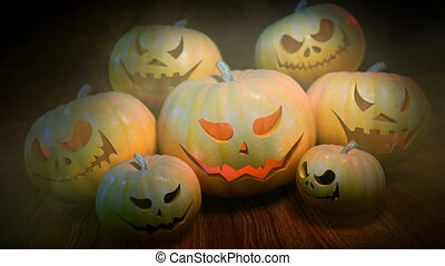 Halloween Pumpkins loopable background