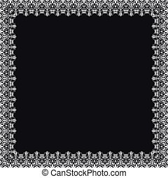 Floral Vector Fine Frame - Classic vector square white frame...