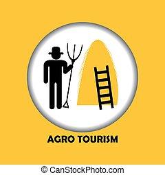 Agro tourism icon - Illustration of agro tourism icon with...