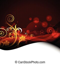 beautiful floral artwork background - beautiful floral...