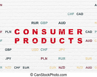 Business concept: Consumer Products on wall background