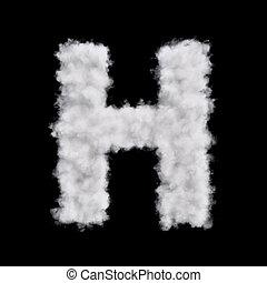 Cloud letter H - Capital letter H font of white cloud shape....