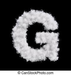 Cloud letter G