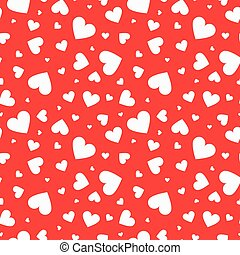 Mosaic seamless pattern with white hearts.
