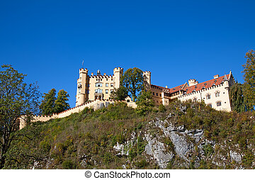 Hohenschwangau castle in Bavarian alps, Germany