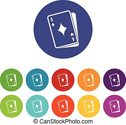 Playing card set icons