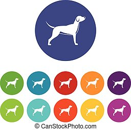 Dog set icons