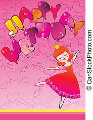 Dancing. - Dancing beautiful princess. Place for sample...
