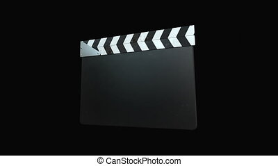 Film Slate - Four Animations+Alpha - 4 Clapperboard...