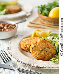Breaded Fish Cakes - Delicious home made breaded fish cakes...