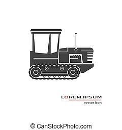 Crawler tractor icon isolated on background. Vector...