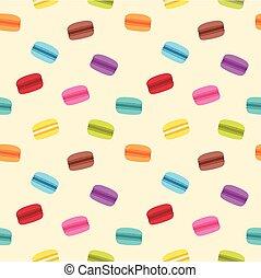 Macaron Seamless Pattern - Cute seamless pattern of colorful...