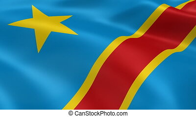 Congolese flag in the wind Part of a series