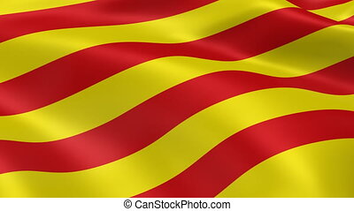 Catalonian flag in the wind. Part of a series.