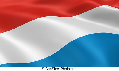 Luxembourger flag in the wind